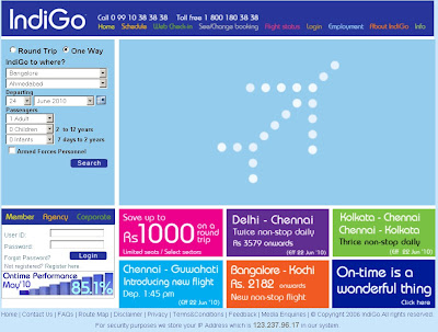 indigo airline ticket booking